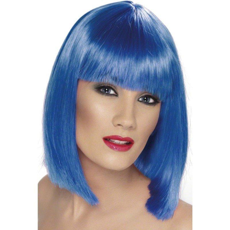 Peruka GLAM niebieska