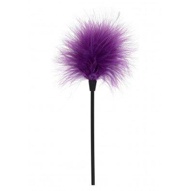Miękkie erotyczne piórko - fioletowe 22 cm