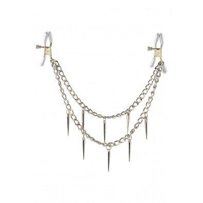 Piękny, drapieżny łańcuszek na piersi - Rock Hard Nipple Clamps