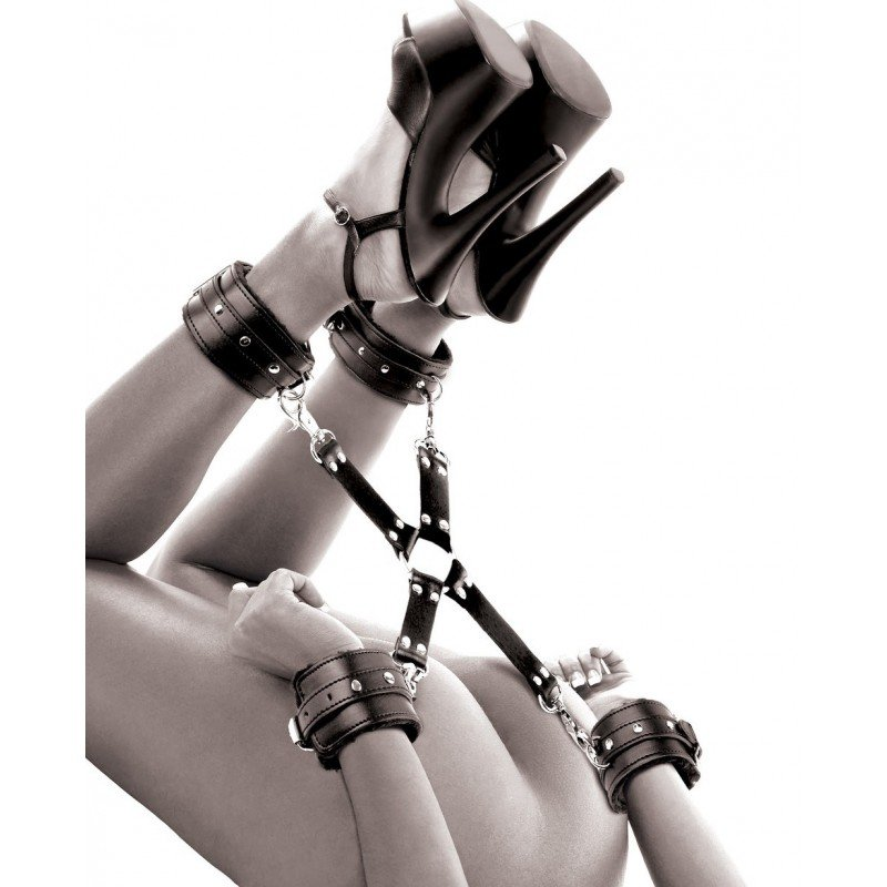Kajdanki krzyżowe -ręce + nogi - Ffle Cumfy Hogtie