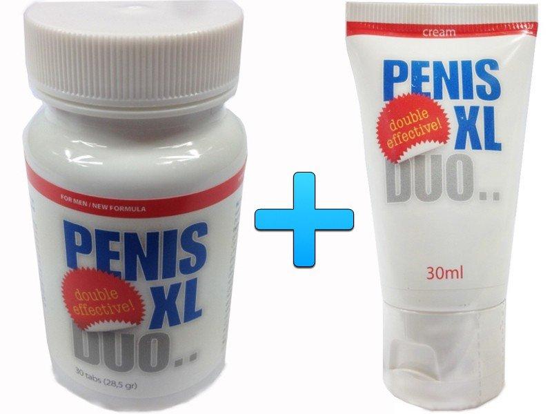 Tabletki + Krem - powiększenie penisa + erekcja ZESTAW