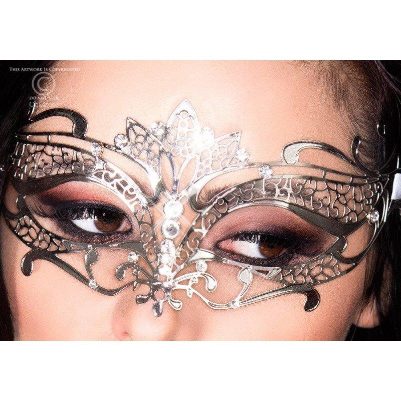 Piękna srebrna maska