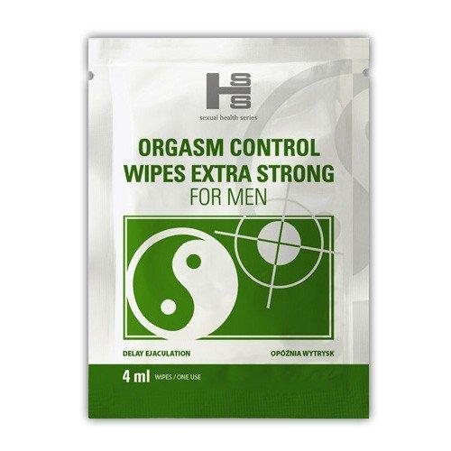 Nawilżona chusteczka na przedłużenie stosunku Orgasm Control