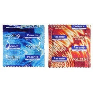 Rozgrzewające i chłodzące prezerwatywy Pasante 12 sztuk