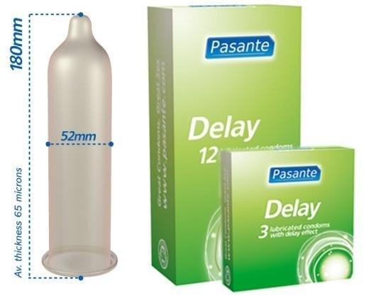 Prezerwatywy opóźniające wytrysk Pasante 3 sztuki