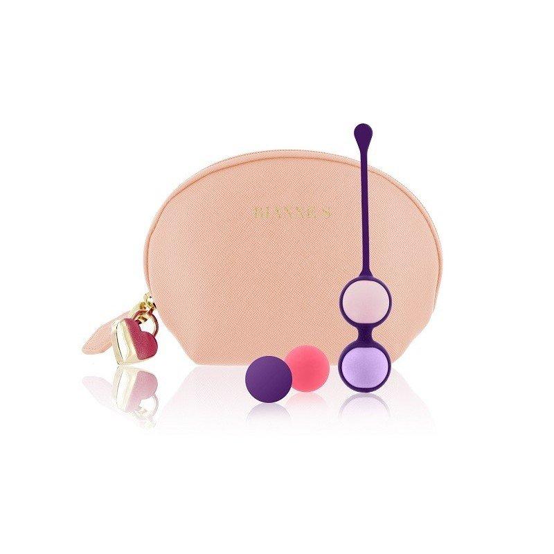 Silikonowe kulki w 4 różnych ciężarach + kosmetyczka