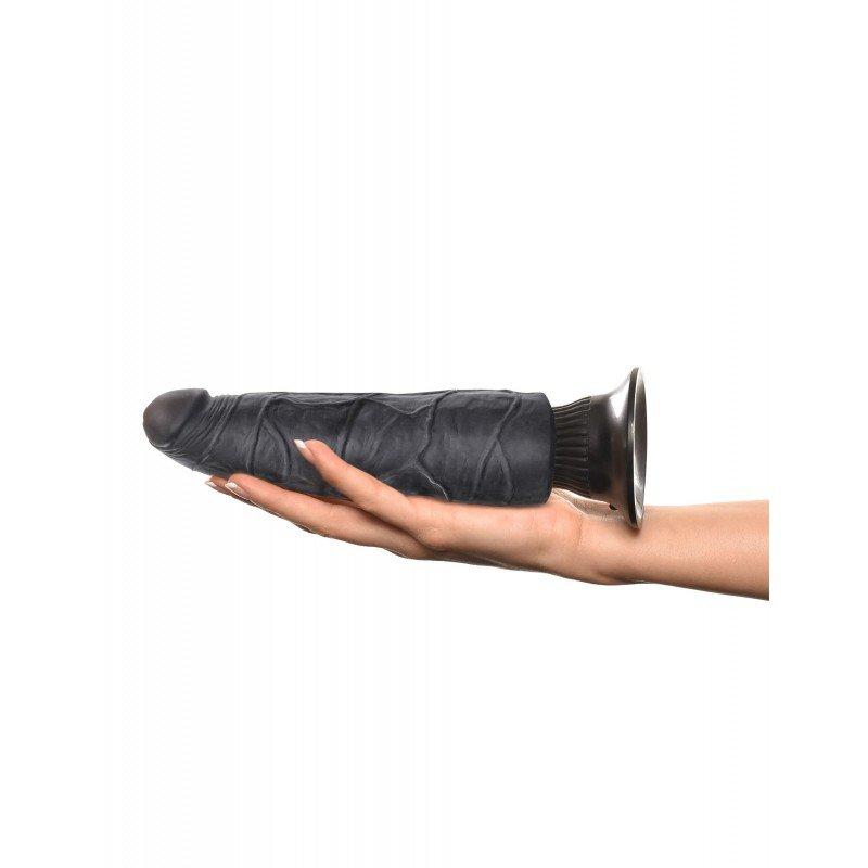 Super czarny wibrator z przyssawką