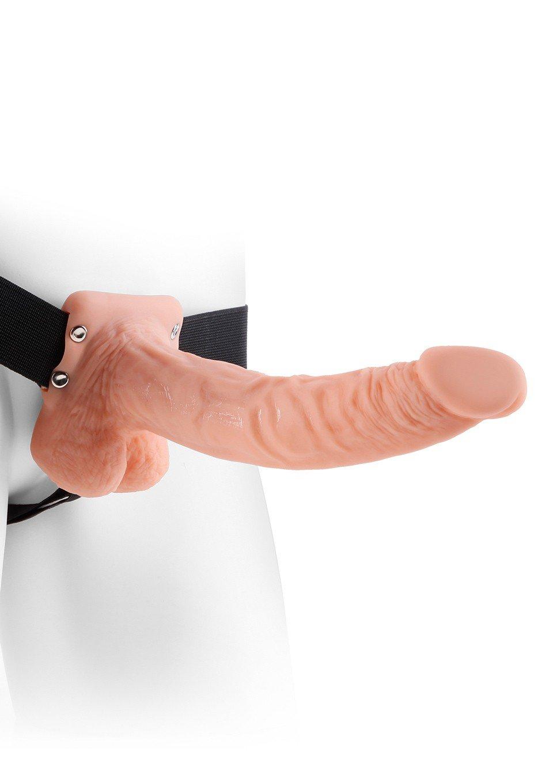 Proteza na penisa z jądrami typu Strap on