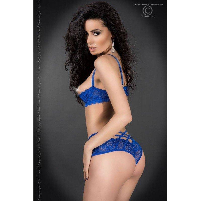 Niebieski seksowny komplet Chilirose