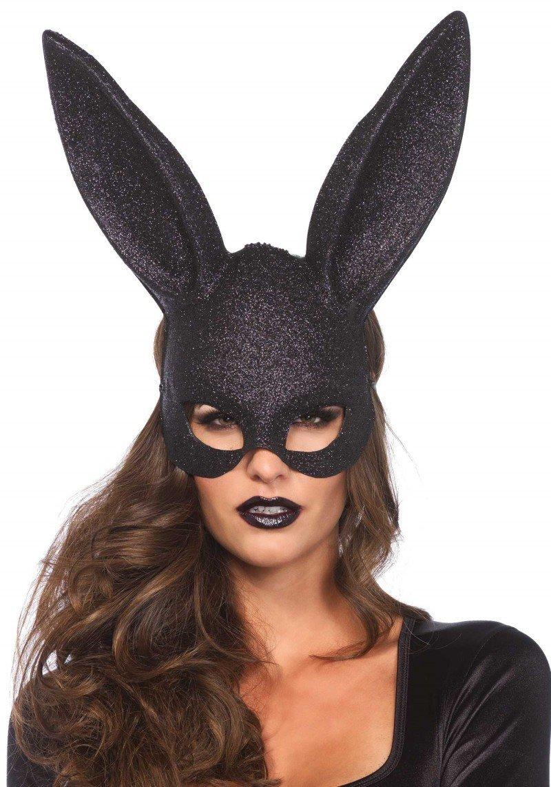 Zmysłowa maska króliczka z dużymi uszami