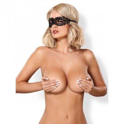 Erotyczna koronkowa maska w kolorze czarnym