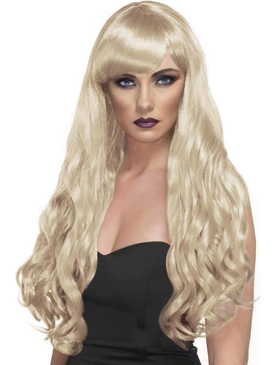 Blond peruka z kręconymi włosami