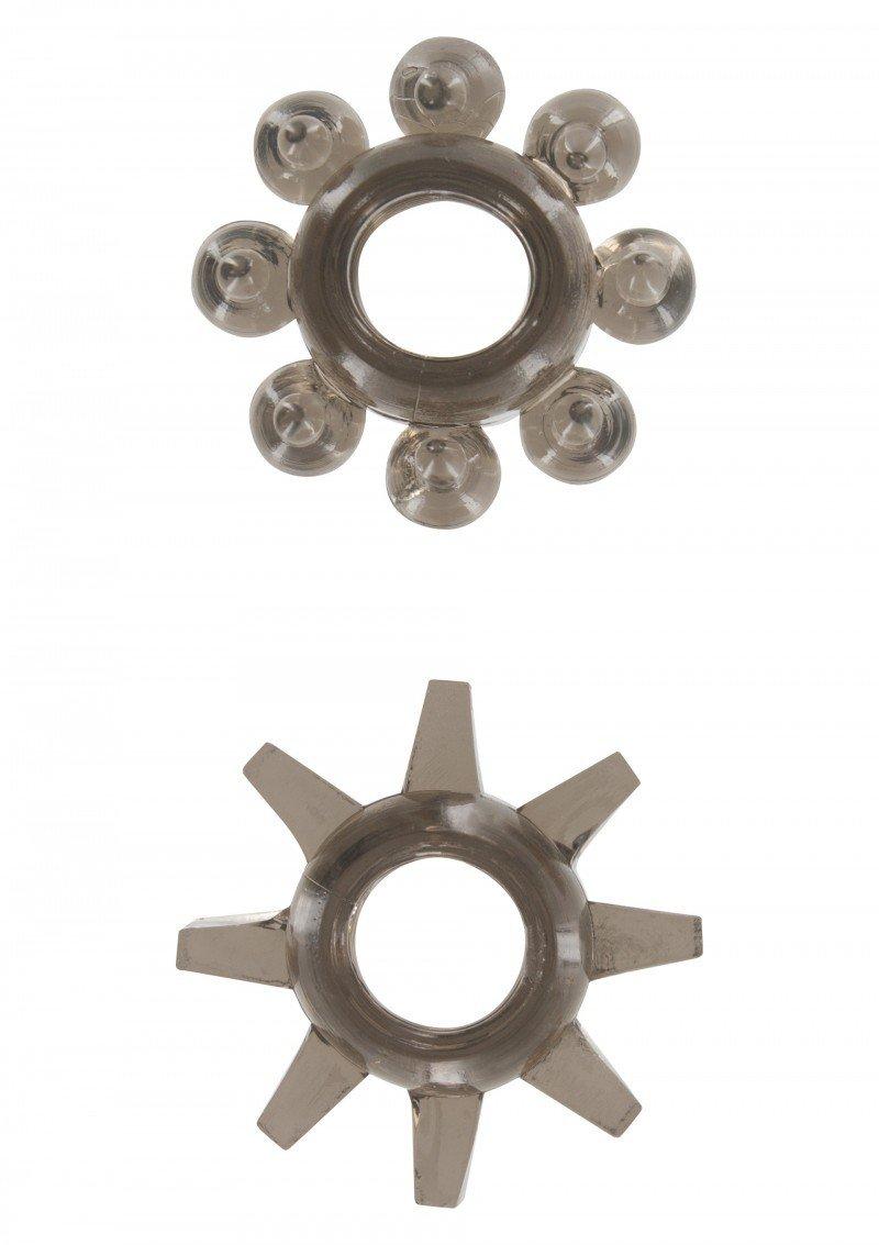 Szare żelowe pierścienie na penisa