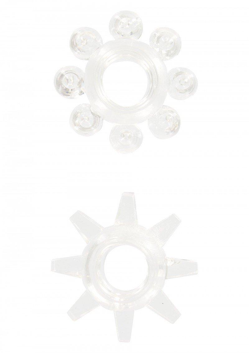 Przezroczyste żelowe pierścienie na penisa