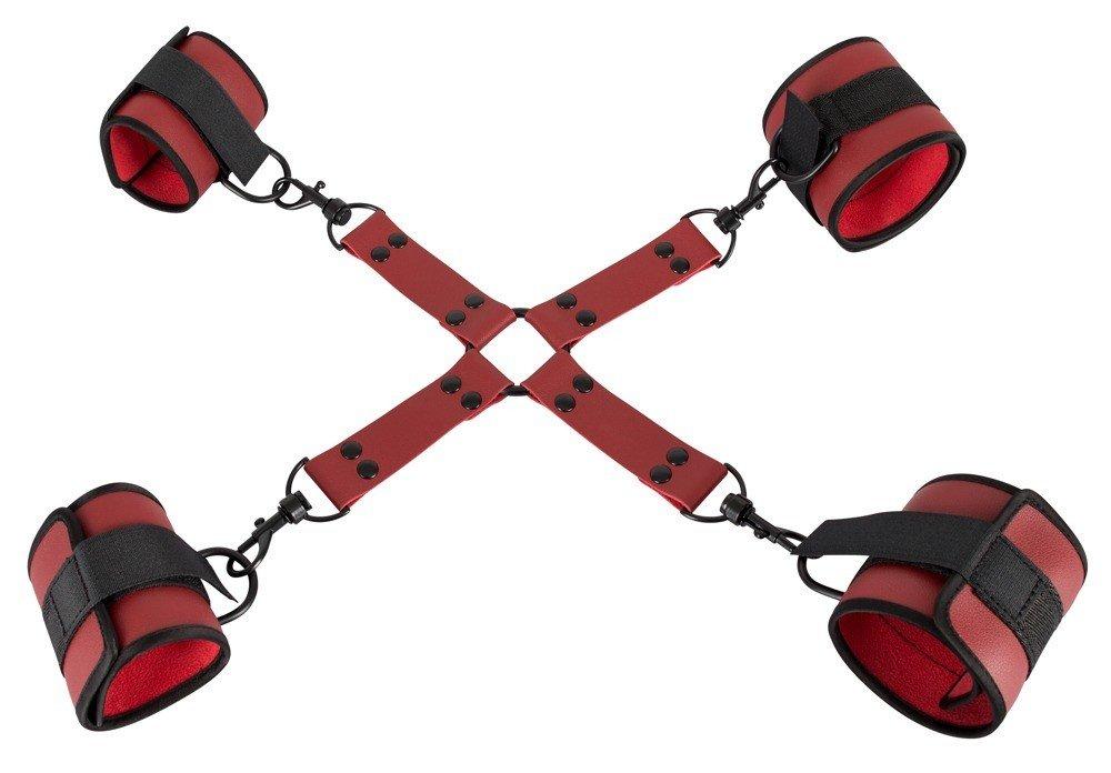 Kajdanki krzyżowe na ręce i nogi