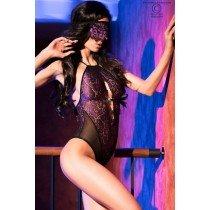 Erotyczne koronkowe body + opaska Chilirose