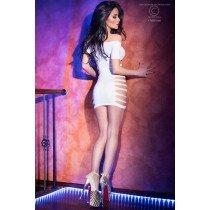 Biała sukienka z wycięciami Chilirose