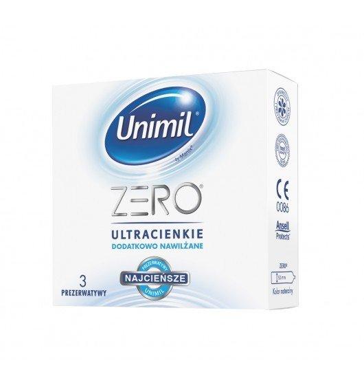 Bardzo cienkie prezerwatywy Unimil Zero