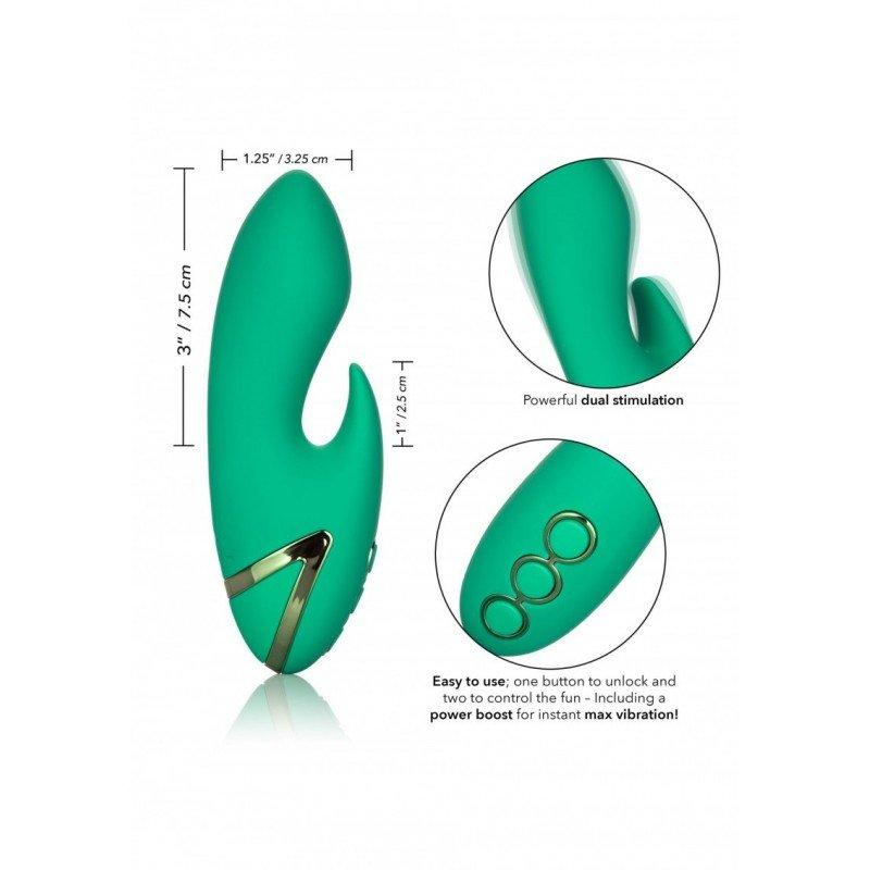 Bardzo mocny niewielki wibrator ze stymulatorem łechtaczki