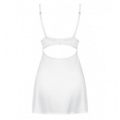 Delikatna biała koszulka + stringi Obsessive