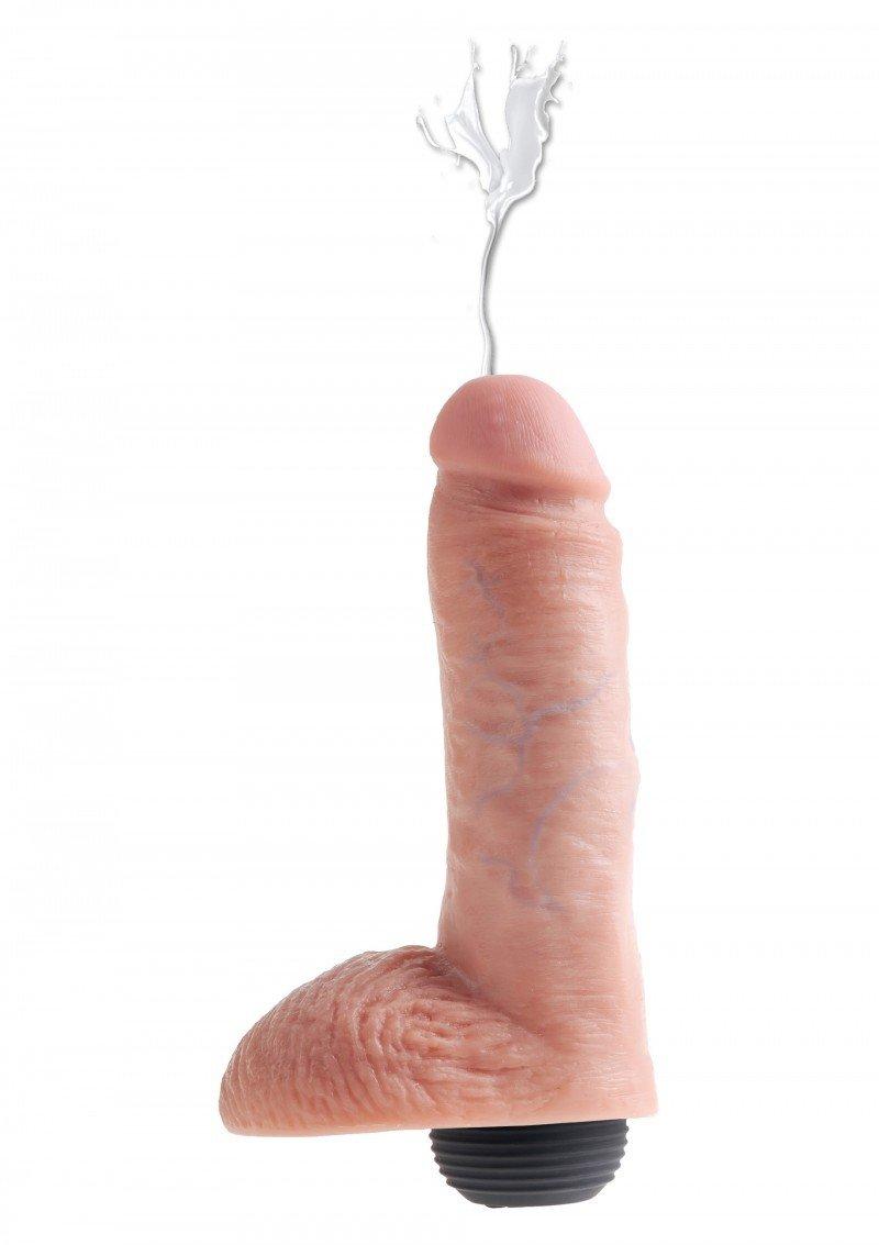 Realistyczny penis z wytryskiem - 15 cm + sztuczna sperma