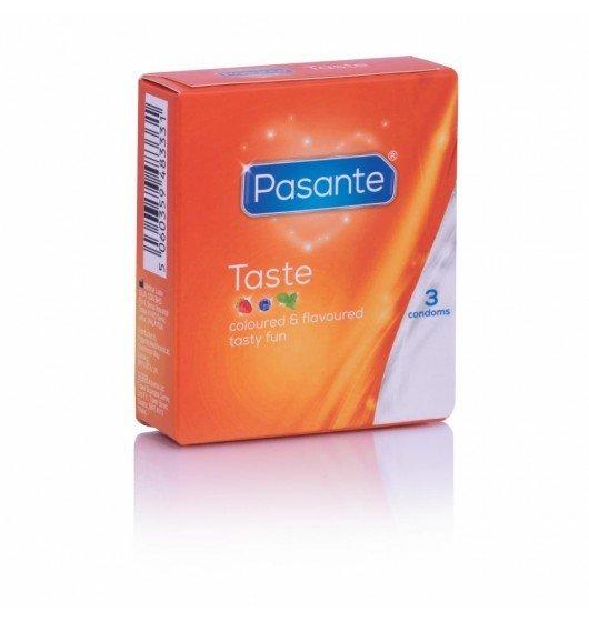 Wielosmakowe prezerwatywy Pasante 3 sztuki