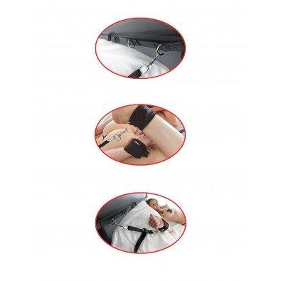 Zestaw do przywiązywania do łóżka + maska na oczy