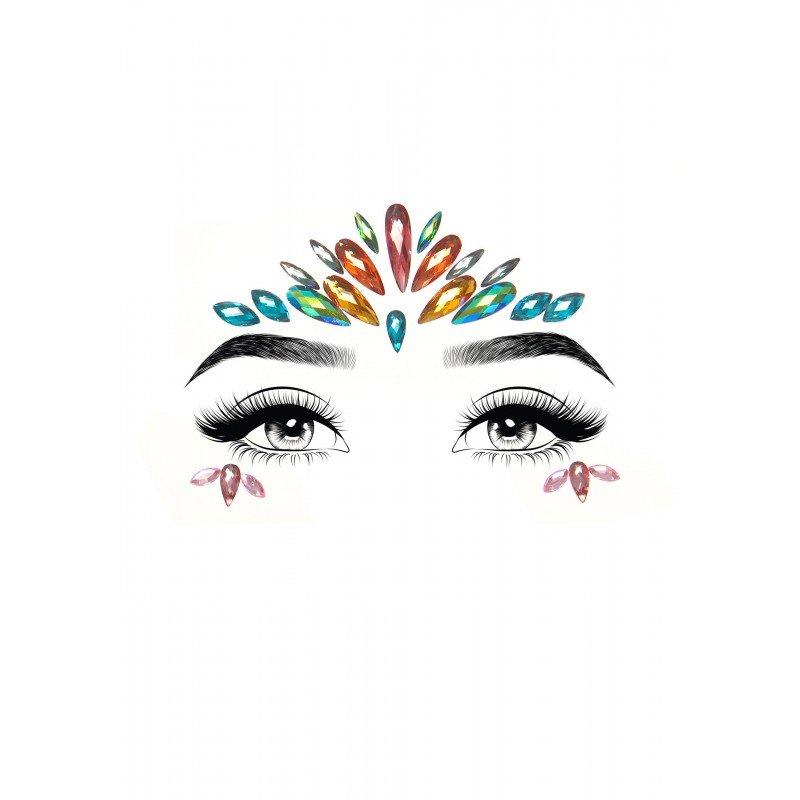 Kolorowa samoprzylepna maska z kryształkami