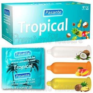 Prezerwatywy tropikalne Pasante 12 sztuk