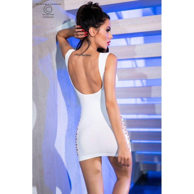 Bezszwowa biała sukienka Chilirose
