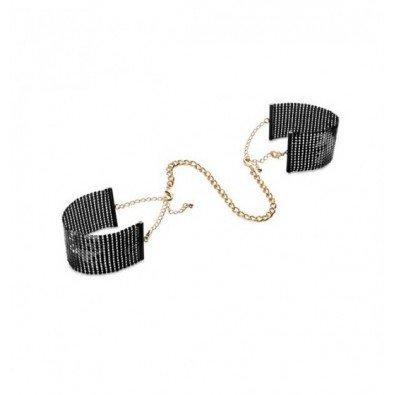 Czarne eleganckie kajdanki Bijoux Indiscrets 8021