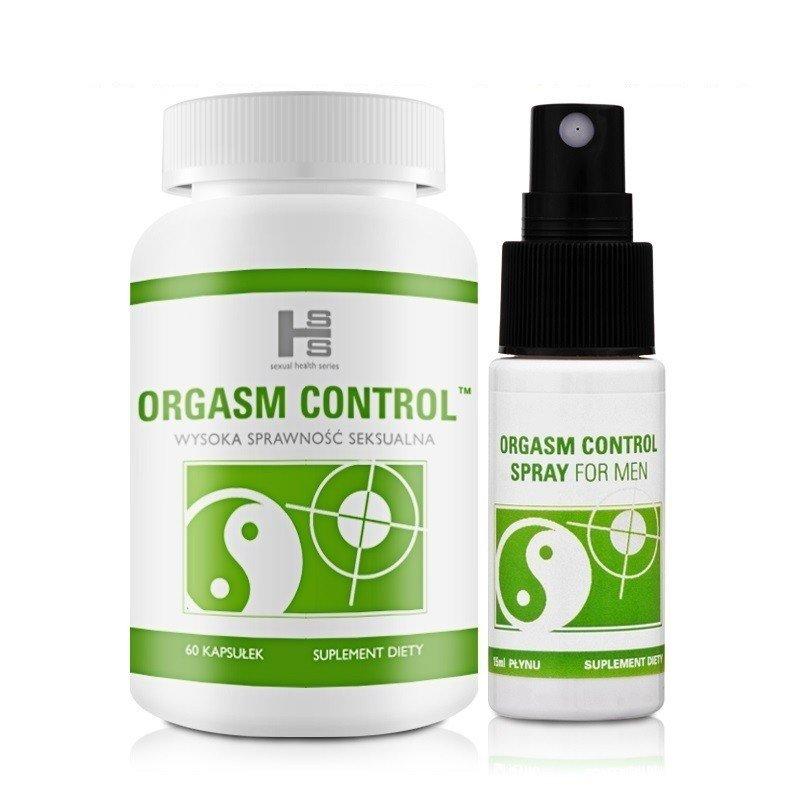 Zestaw Orgasm Control 60 kapsułek + spray 15 ml