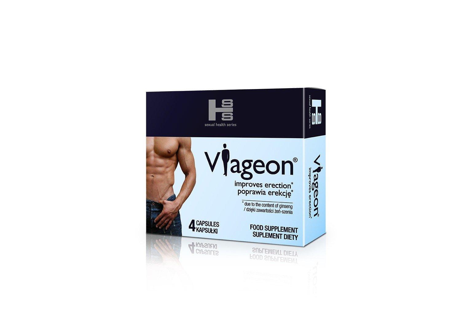 Viageon 4 kapsułki - na problemy z potencją