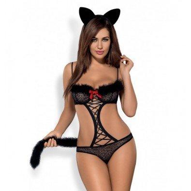 Kostium kuszącej kotki Obsessive 8295