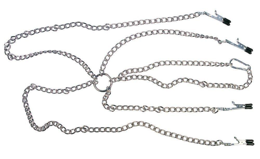 Zestaw łańcuszków na sutki i wargi sromowe