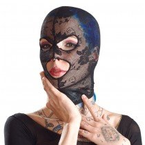 Siateczkowa maska z wycięciami na oczy i usta 8347