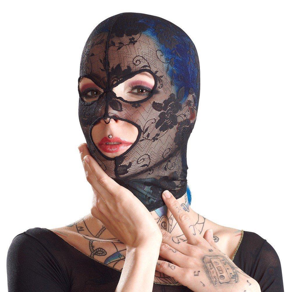 Siateczkowa maska z wycięciami na oczy i usta