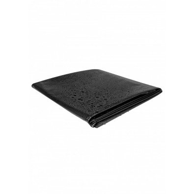 Czarne prześcieradło zmywalne 180x220 - Vinyl Bed 8443