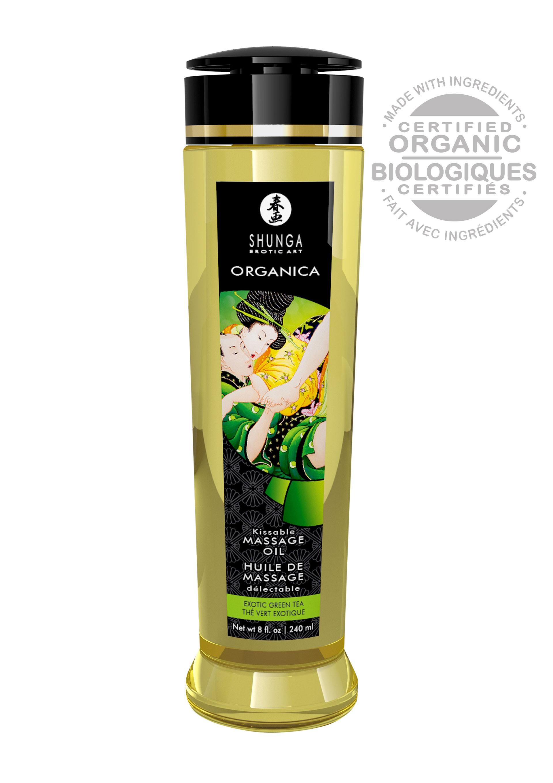 Olejek do masażu Shunga zielona herbata 240 ml
