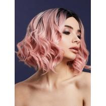 Różowa peruka 8939
