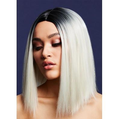 Peruka z prostymi włosami blond 8978