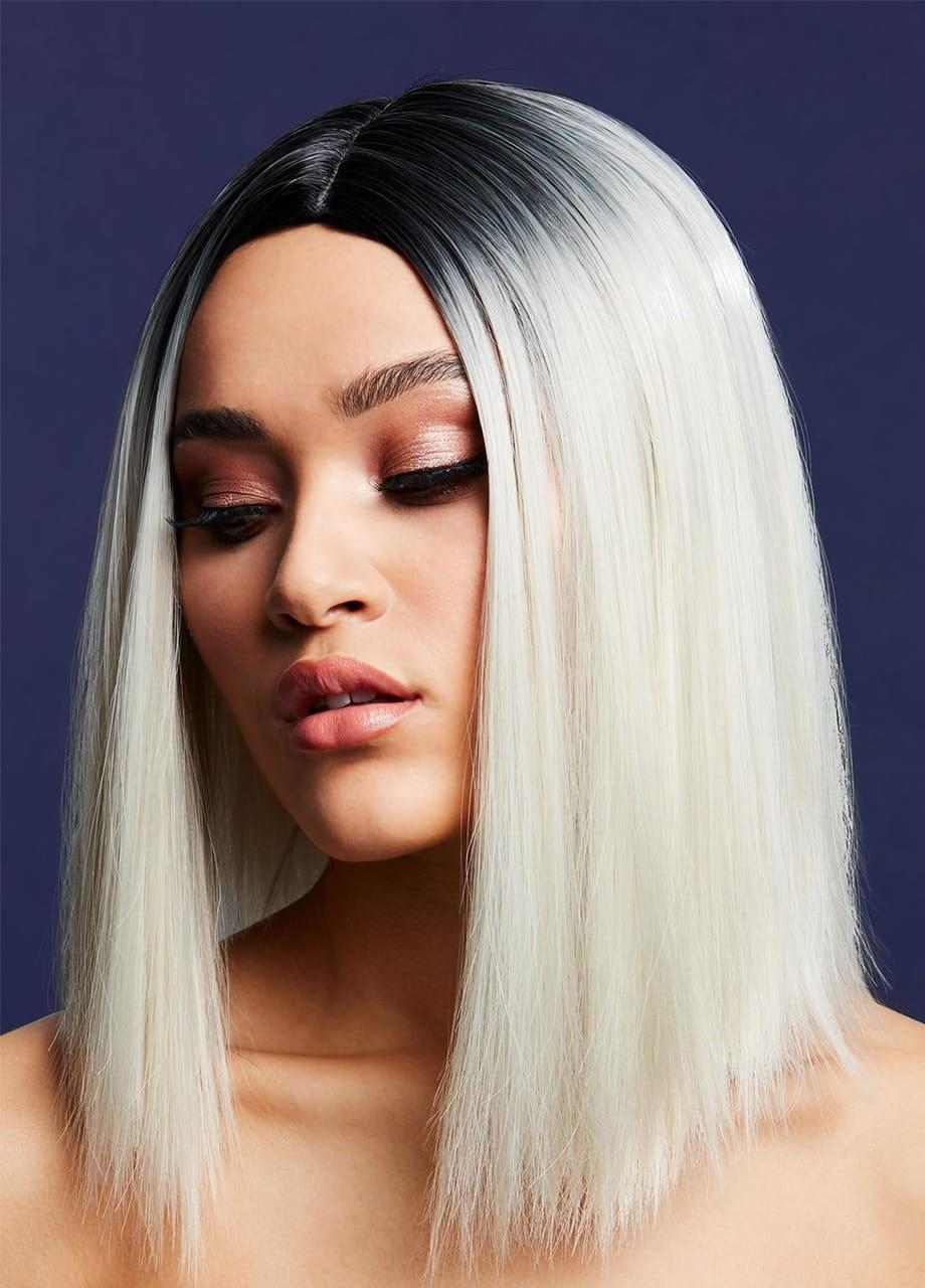 Peruka z prostymi włosami blond