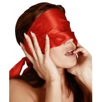 Satynowa przepaska na oczy - czerwona 9062
