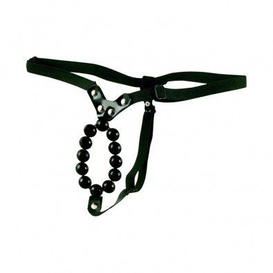 LOVER'S THONG WITH STROKER BEADS